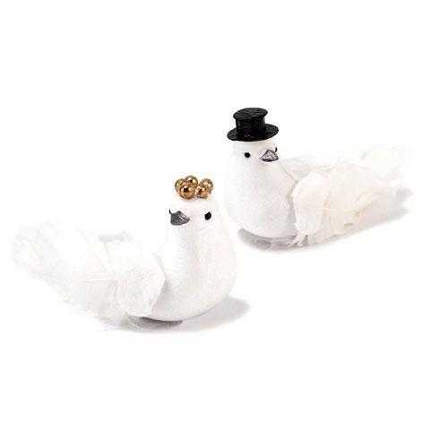 Miniature Bride And Groom Wedding Doves Groom (Pack of 6)