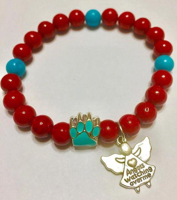 Pulsera de Jade rojo Pet Memorial Symphaty por MarianneTreasures