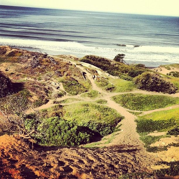 beautiful fort funston. In many cases, Earth unadorned by man's interference IS art.