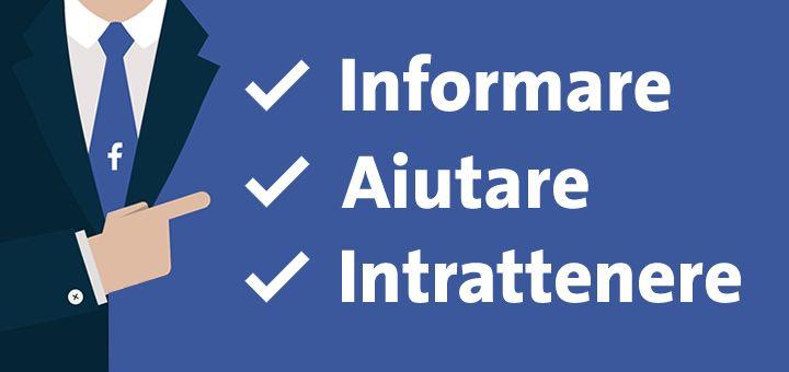 Le 3 principali attività di una Pagina Facebook