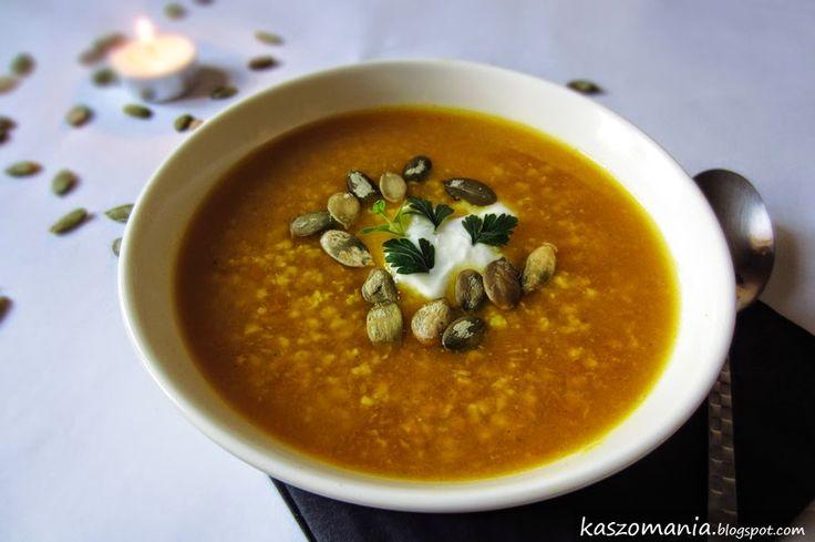 Kaszomania - pomysły na dania z kaszy jaglanej: Zupa dyniowa z kaszą jaglaną