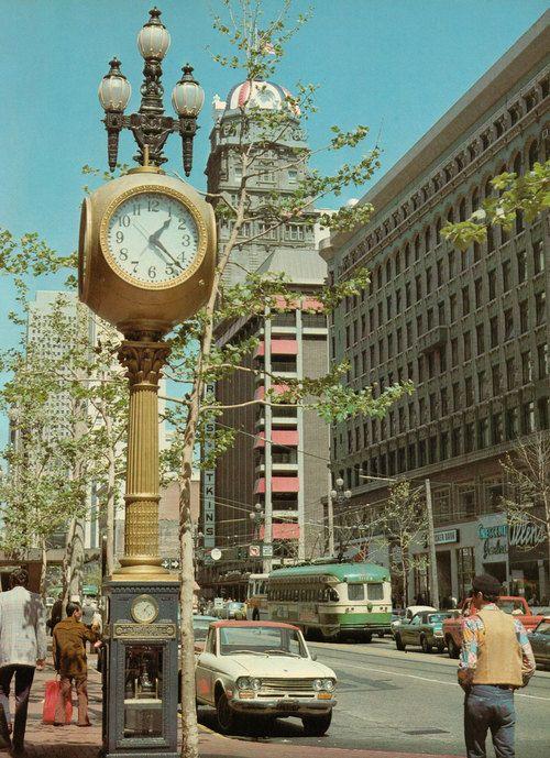 Market Street, San Francisco. Vintage 1970s California