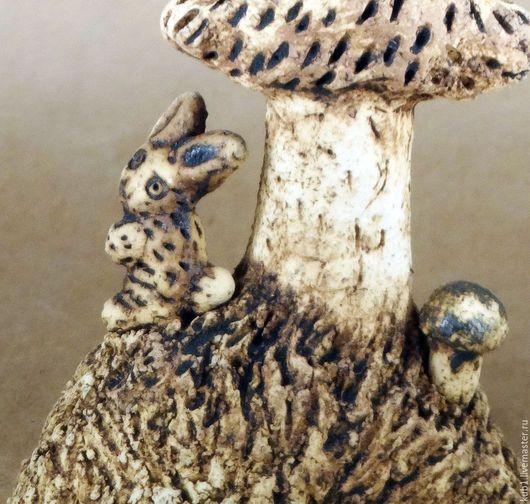 Статуэтки ручной работы. скульптура керамическая Сова и заяц. СТУДИЯ КЕРАМИКИ 'КУБ'. Ярмарка Мастеров. Статуэтка, подарок, белая глина