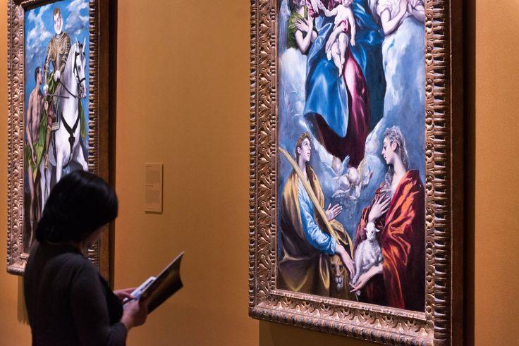 'San Martín y el pobre' (izquierda) y 'La Virgen con el Niño y santa Martina y santa Inés' (derecha).