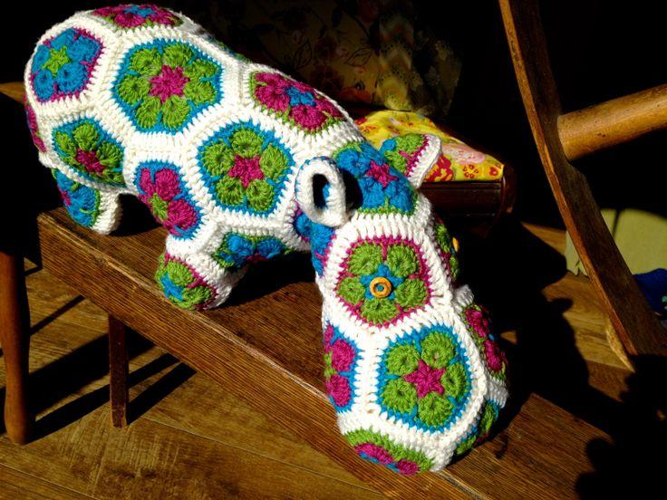 Happypotamus The Happy Hippo   Pattern by Heidi Bears Crocheted by Mindy Abodeely  Twill Fabric & Yarn Nashua, NH www.twillnh.com