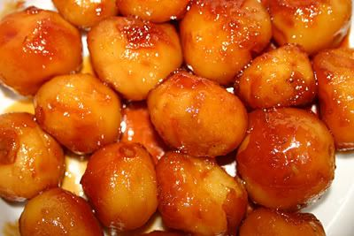 Icelandic cooking, recipes and food: Brúnaðar kartöflur - Caramelised potatoes