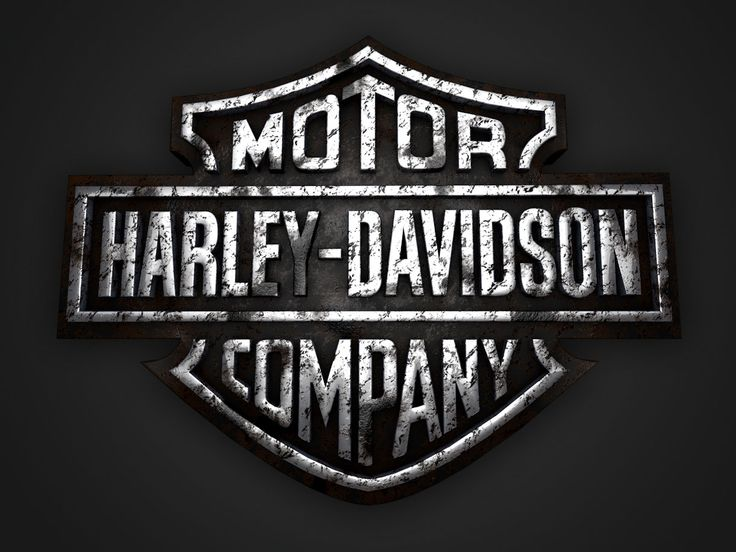 Harley 3d Logo Dirty Hd Pinterest Logos We And The