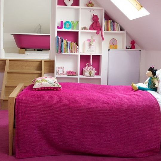 28 best images about attic bed room on pinterest for Eaves bedroom ideas