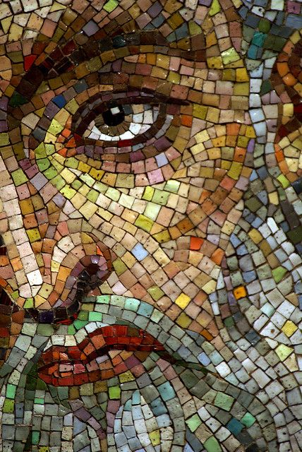 The intensity of this work is amazing because in reality it is just a collection of colored tiles. Individually they mean nothing, but as they were each fashioned with a specific purpose and when they are in their place they are a part of beauty.    Like the Church.