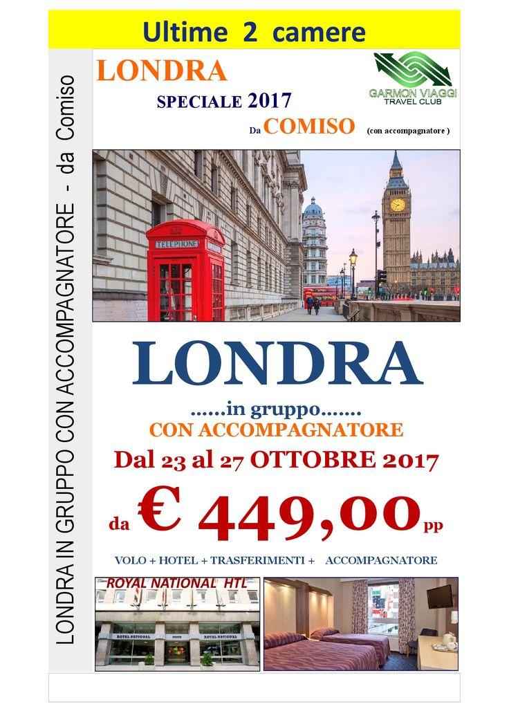 Londra dal 23 al 27 Ottobre con partenza da Comiso – Garmon Viaggi Tour Operator