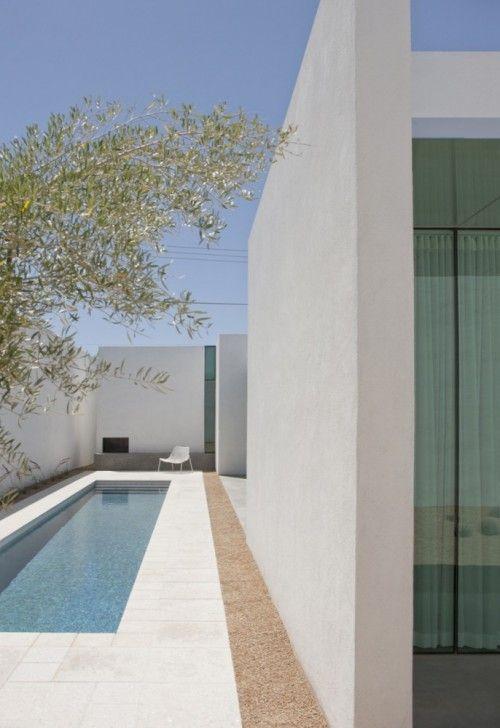 courtyard lap pool.