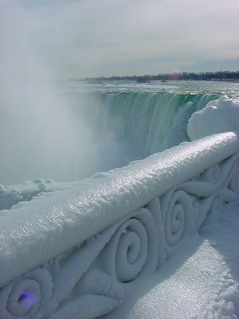 Frozen Niagara Falls - I did see this... even more awesome when you see all the trees covered with ice