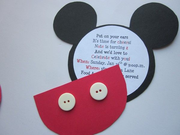 Mickey Mouse invite party