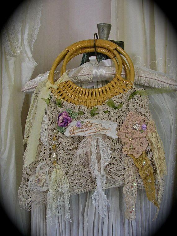 Whimsical faerie Purse macrame rattan handbag by TatteredDelicates, $95.00