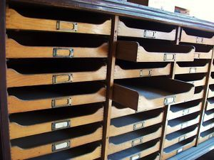 LOVE this - I once had an interior designer take one look at my home and tell me I MUST invest in flat file storage!  I NEED this!