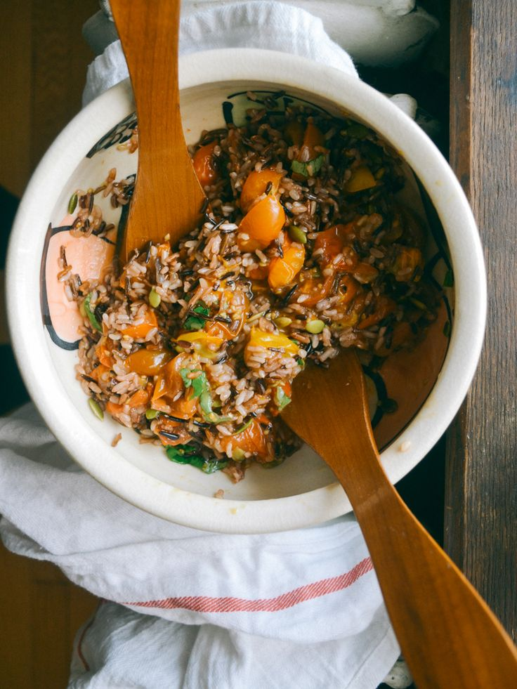 roasted tomato salad with wild rice
