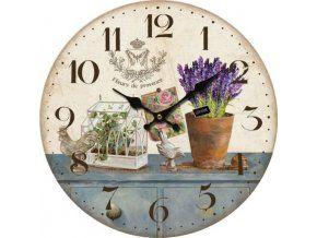 Nástěnné hodiny Fleurs de Provence, 34 cm