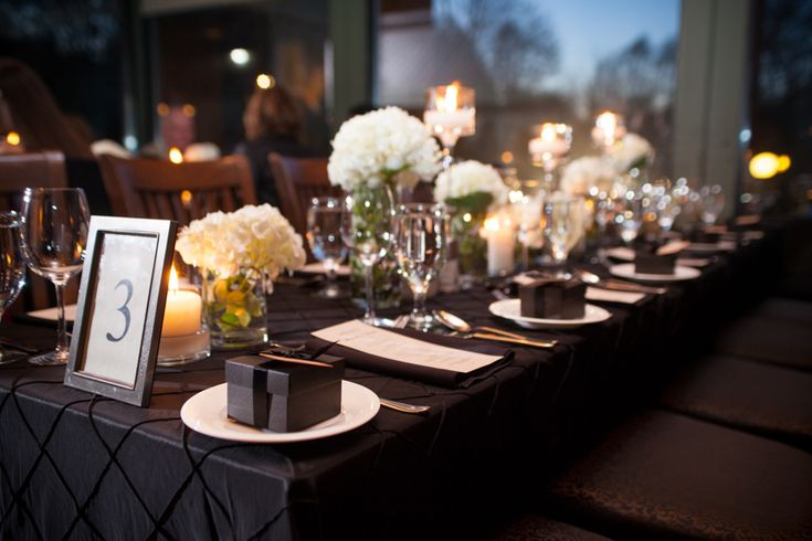 Ancaster Mill wedding reception table decor