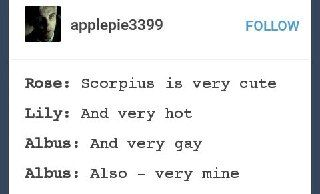 I don't ship Scorbus (please don't hate me- I love Deamus and Wolfstar) but this is funny