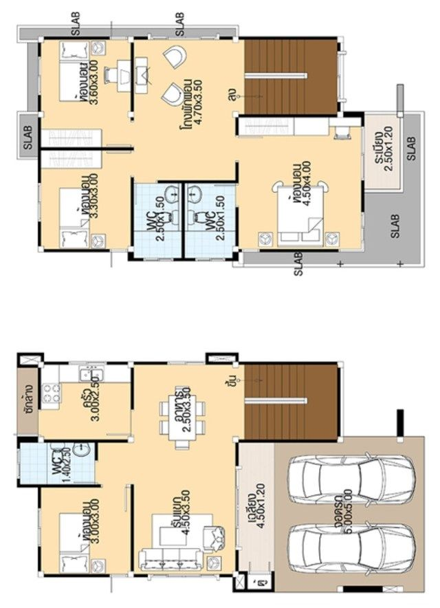 House Design 3d 7 5x13 With 4 Bedrooms Tiny House Design 3d 5 Bedroom House Plans Unique House Plans Bedroom House Plans
