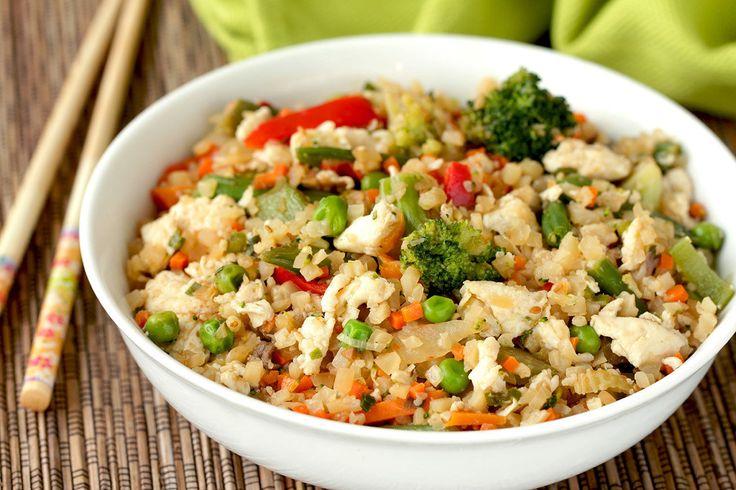 Hungry Girl's Healthy Cauliflower Fried Rice Recipe - use GF teriyaki sauce