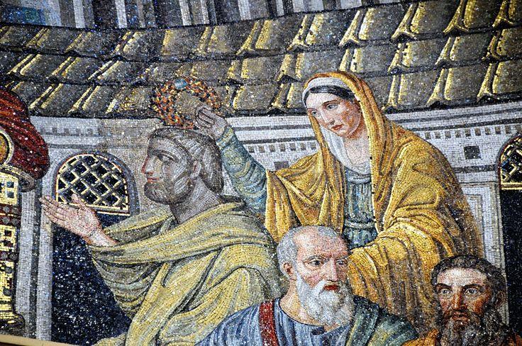 Santa Pudenziana - mosaico absidale - dettaglio   Flickr - Photo ...