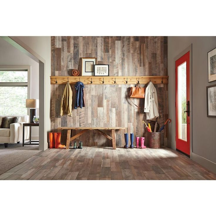 Marazzi Montagna Wood Weathered Gray 6 In X 24 In Porcelain Floor And Wall Tile 14 53 Sq Ft