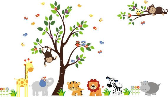 Nursery Wall Decal, Baby Wall Decals, Jungle Wall Decals, Wall Decals Nursery, Childrens Wall Decals - 534