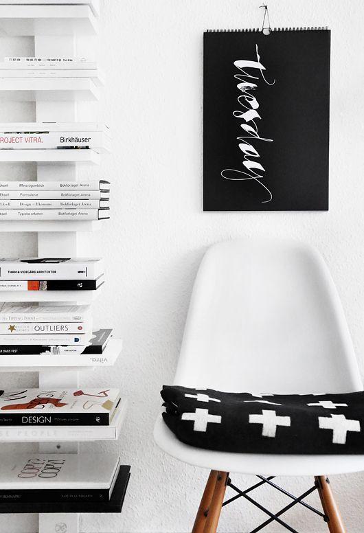 Via Trendenser | Eames Dsw | Pia Wallen Blanket | Black & White, Scandinavian, Nordic
