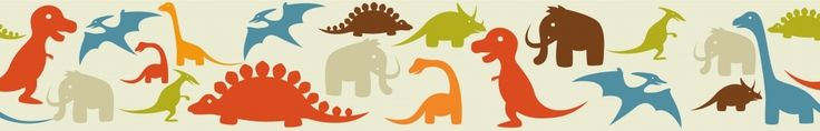 Dinosaur Silhouettes Decorative Wallpaper Wall Border for Kids Bedrooms | eBay