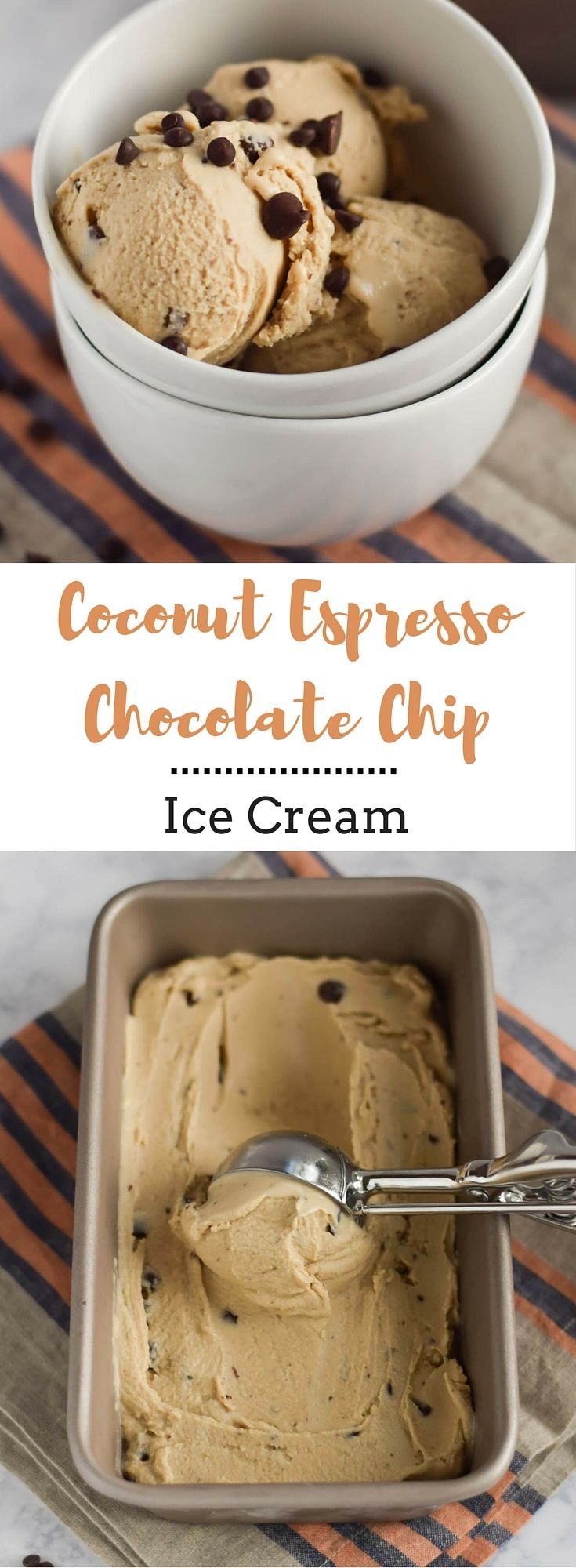 Coconut Espresso Chocolate Chip Ice Cream - Whether you are dairy free or not, you will love this Coconut Espresso Chocolate Chip Ice Cream. It�s thick, creamy and just the right amount of sweetness. You won�t believe how delicious it is with no cream a