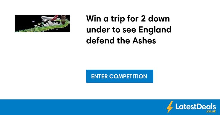 Win a trip for 2 down under to see England defend the Ashes
