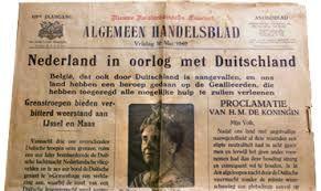 tweede wereldoorlog krantenartikel