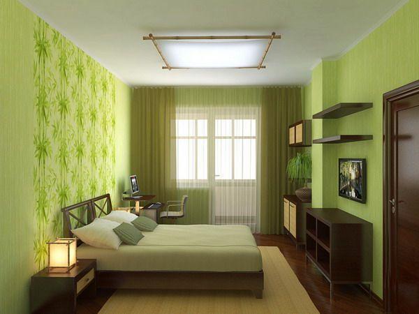 Elegant Bedroom Interior In Sodt Green Color The Best And Coolest