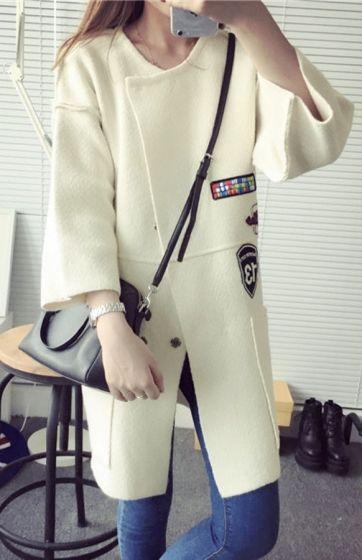 Sweter ala płaszcz w militarnym stylu. Szary wiosenny sweter - narzuta