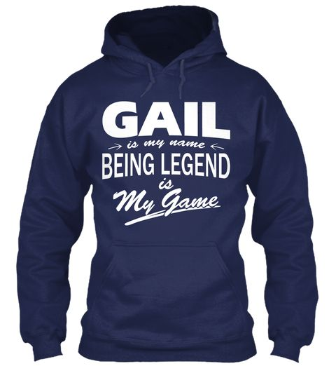 Gail Name, Legend Game Navy Sweatshirt Front