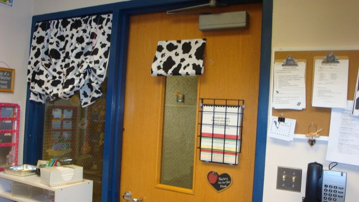 Classroom Curtain Design : Cowboy theme curtains for classroom that cover the hallway
