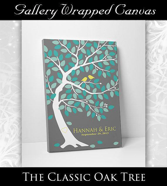 Mariage Guest Book Alternative - livre d'or de mariage personnalisé - mariage Registre réserve 24 x 36 125 Commentaires signe en