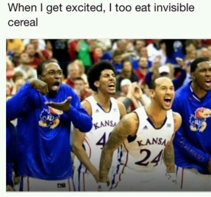 Get so Excited you eat invisible cereal....