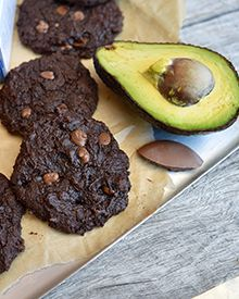 Fudgy Choc Chip Avocado Cookies
