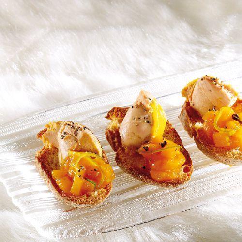 Duo foie gras – chutney de mangue