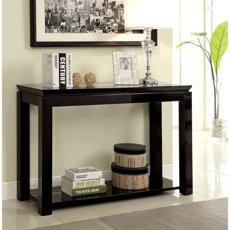 Furniture Of America Klipher Contemporary Sofa Table Black Products In 2019 Sofa End Tables