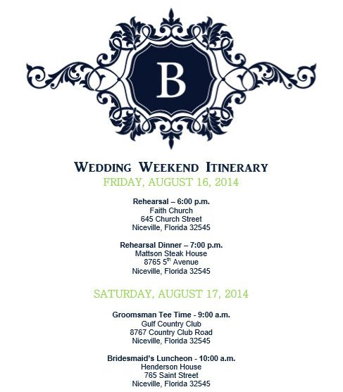 Best 25+ Wedding itinerary template ideas on Pinterest Wedding - wedding schedule template