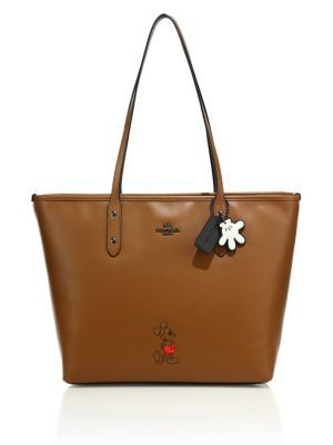 COACH Mickey Mouse Refined Calf Leather Tote. #coach #bags #leather #hand bags #tote #