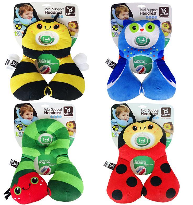 Baby Headrest Benbat Head Neck Support Safety Pillow Car Seat Stroller Travel Ne Bear 1-4 year