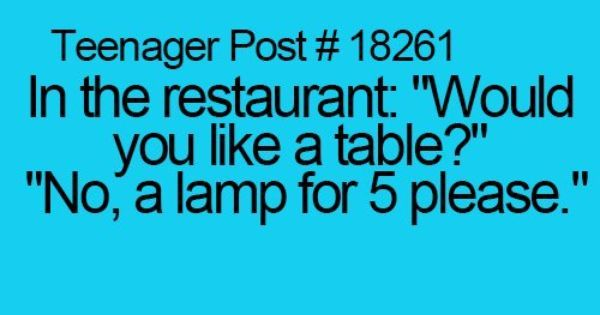 Teenager Posts Of The Week! | Pinterest | Restaurant, The floor and Teenagers