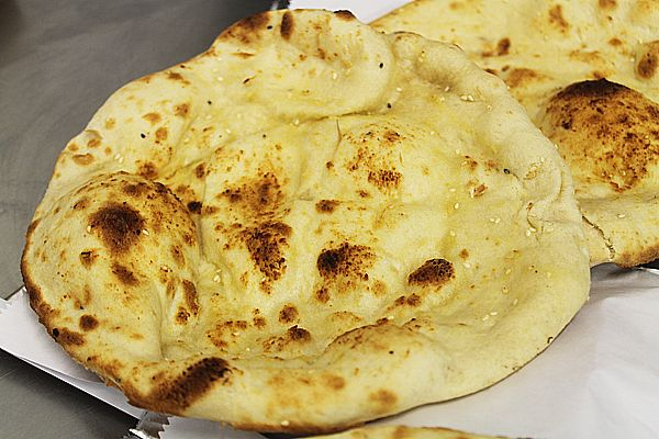 British Indian restaurant style peshwari naan