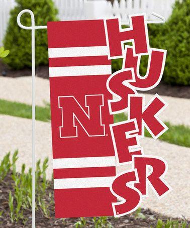 Look what I found on #zulily! Nebraska Cornhuskers Sculpted Garden Flag…