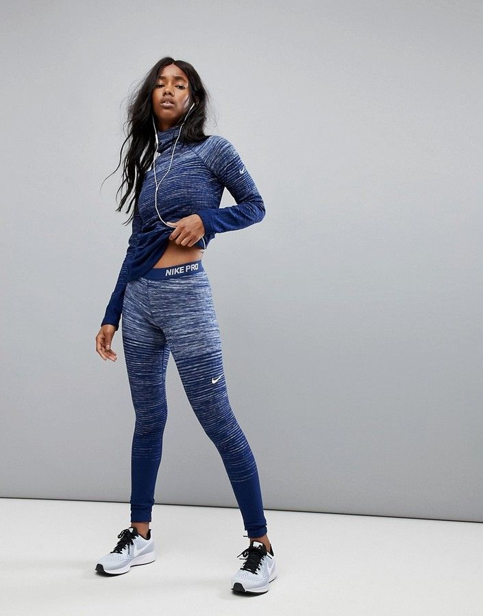 Nike Training - Hyperwarm - Legging - Bleu