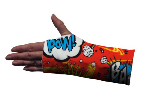 Comic Bubble Red Wrist Splint Cover